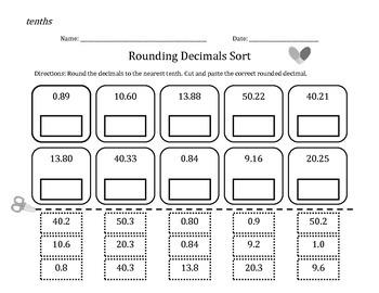 Rounding Decimals Bundle (nearest whole number, tenths & hundredths)