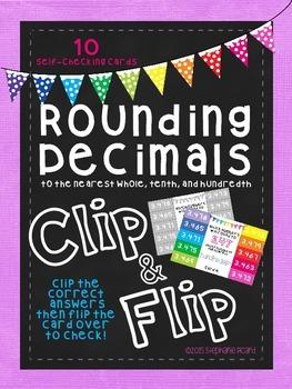 Rounding Decimals Clip and Flip