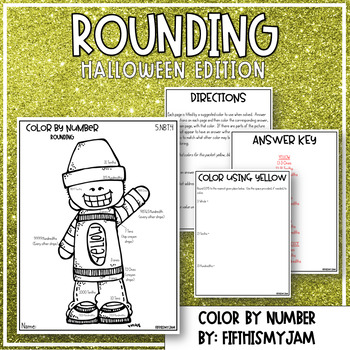 Rounding Decimals Color By Number 5.NBT.4