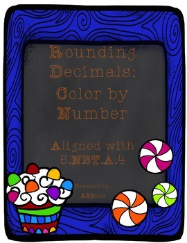 Rounding Decimals Differentiated Color by Number