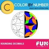 Rounding Decimals Color by Number