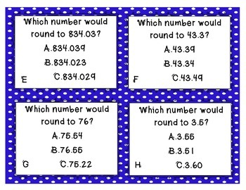 Rounding Decimals Daily 5 Center Activities