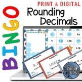 Rounding Decimals Digital Bingo Game
