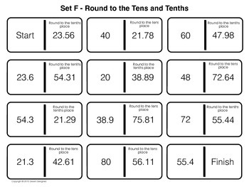 Rounding Decimals Dominoes