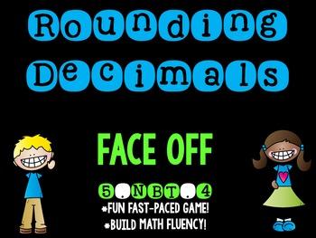 Rounding Decimals Face Off 5.NBT.4