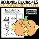 Rounding Decimals Fall Pumpkin Cut & Paste Halloween Jack-O-Lantern