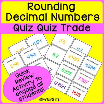 Rounding Decimals Quiz Quiz Trade Game