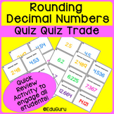 Rounding Decimals Quiz Quiz Trade Game