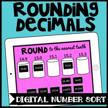 DIGITAL Rounding Decimals Game, Number Sort for Google Drive