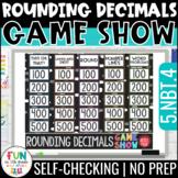 Rounding Decimals Game Show 5th Grade | Digital | Test Prep Math Review Game