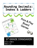 5.NBT.4 - Rounding Decimals Game: Snakes and Ladders