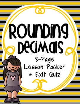 Rounding Decimals to Any Place: Guided Notes and Exit Quiz, 5.NBT.4