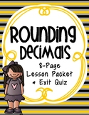 Rounding Decimals to Any Place: 5th Grade Lesson Packet & Quiz (5.NBT.4)