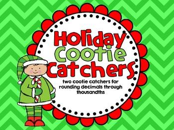 Rounding Decimals-Holiday Cootie Catchers
