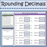 Rounding Decimals Interactive Activity Digital Distance Learning