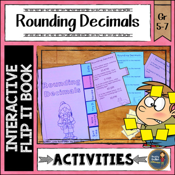 Rounding Decimals Interactive Flip It Book