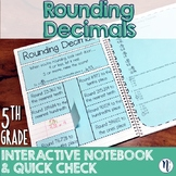 Rounding Decimals Interactive Notebook Activity & Quick Check TEKS 5.2C