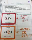 Rounding Decimals Interactive Notebook Entry