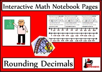 Rounding Decimals Lesson for Interactive Math Notebooks