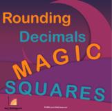 Number Grid Puzzles - Rounding Decimals: Magic Squares