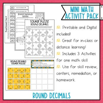 Rounding Decimals Math Activities Google Slides and Printable