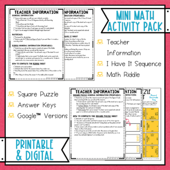Rounding Decimals Math Activities Puzzles and Riddle