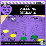 Rounding Decimals- Math Center Activity and Printables Pack