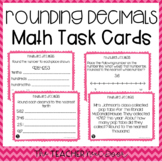 5th Grade Rounding Decimals Task Cards | Rounding Decimals Center