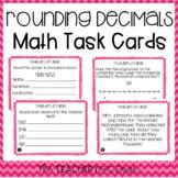 5th Grade Rounding Decimals Task Cards | Rounding Decimals Center