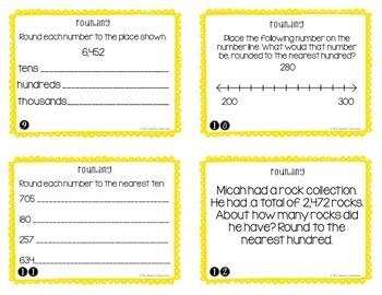Rounding Task Cards for 4th Grade
