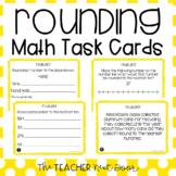 4th Grade Rounding Task Cards | Rounding Math Center | Rou