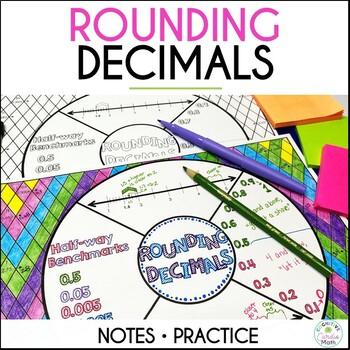 Rounding Decimals Math Wheel
