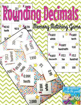 Rounding Decimals Memory Matching Game