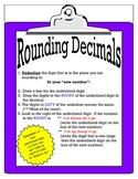 Rounding Decimals Mini Poster