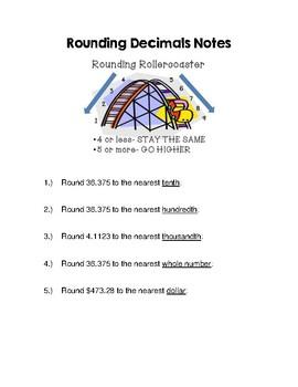 Rounding Decimals Notes