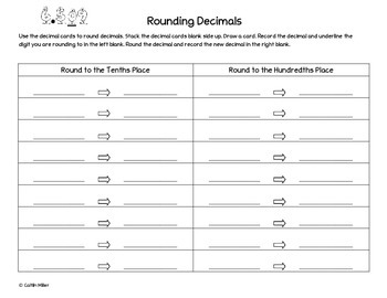 Rounding Decimals Notes and Activity for ISN