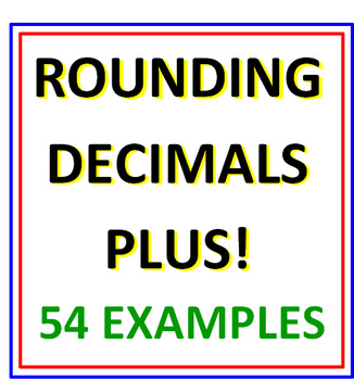 Rounding Decimals Plus PLUS Rounding Decimals Reinforcement (Both Sets)