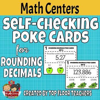 Rounding Decimals Poke Cards