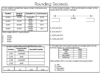 Rounding Decimals Practice