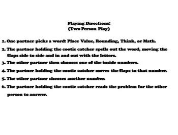 Rounding Decimals Game 4th 5th 6th Grade
