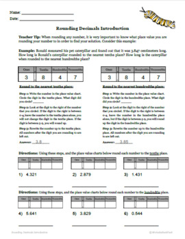 Rounding Decimals - Printable Packet