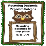 Rounding Decimals Worksheets Round Decimal 5th Grade Math 5.NBT.4