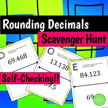 Rounding Decimals Scavenger Hunt Activity