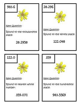 Rounding Decimals Scavenger Hunt - Fifth Grade Common Core Math 5.NBT.4