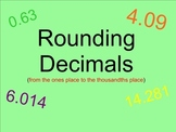 Rounding Decimals - Smartboard