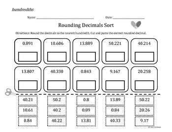Rounding Decimals Sorts