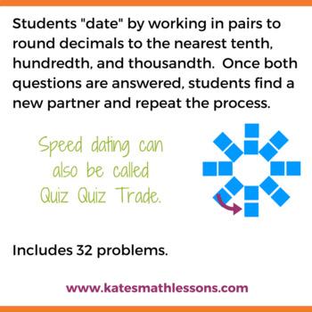 Rounding Decimals Speed Dating Fun Activity
