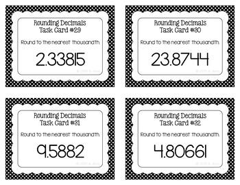 Rounding Decimals Task Cards - SCOOT