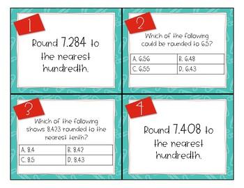Rounding Decimals Task Cards