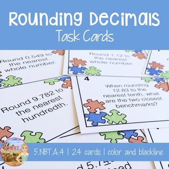 Rounding Decimals Task Cards - 5th Grade CCSS
